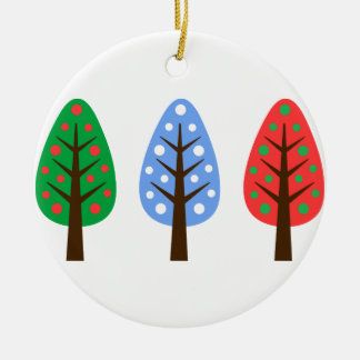 Unique Christmas trees green blue Ornament
