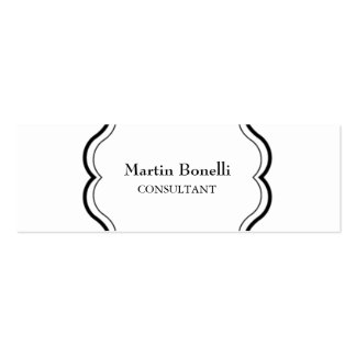Unique Classical Damask Original Pack Of Skinny Business Cards