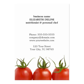 Unique Clean Tomato Health Nutritionist Chef Pack Of Chubby Business Cards