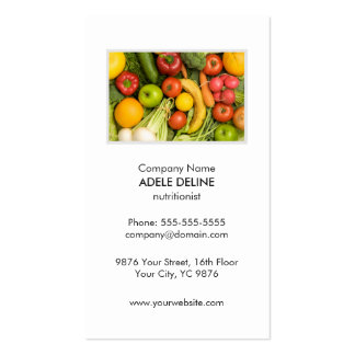 Unique Clean Vegetable Nutritionist Diet Health Double-Sided Standard Business Cards (Pack Of 100)