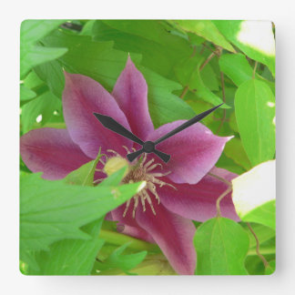 Unique Clematis Flower Wall Clock