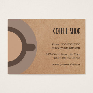 Unique Coffee Icon Cardboard Back Coffee Shop 4. Business Card