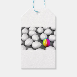 Unique colorful egg gift tags