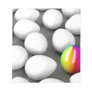 Unique colorful egg notepad