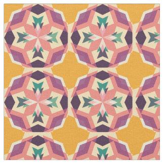 Unique Colorful Kaleidoscope Geometric Fabric