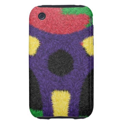 Unique colorful pattern iPhone 3 tough case