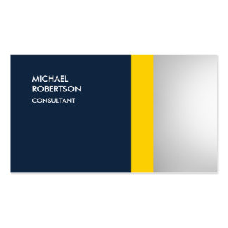 Unique Colorful Yellow Navy Blue Gray Pack Of Standard Business Cards