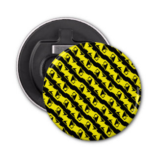 Unique & Cool Black & Bright Yellow Modern Pattern Bottle Opener
