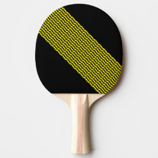 Unique & Cool Black & Bright Yellow Modern Pattern Ping Pong Paddle
