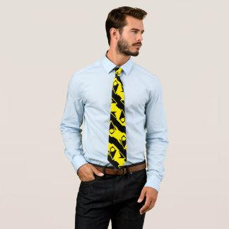 Unique & Cool Black & Bright Yellow Modern Pattern Tie