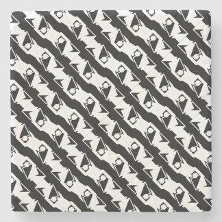 Unique & Cool Black & White Modern Pattern Stone Coaster
