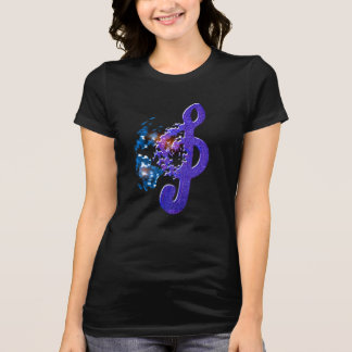 Unique Cool Music Lovers Note Tee Shirt