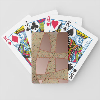 Unique copper polka dots waves design bicycle playing cards