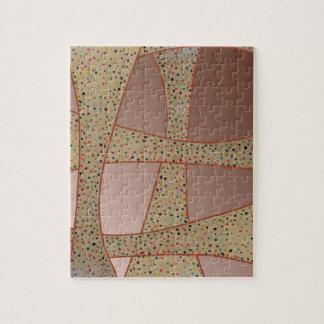Unique copper polka dots waves design puzzle