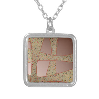 Unique copper polka dots waves design silver plated necklace