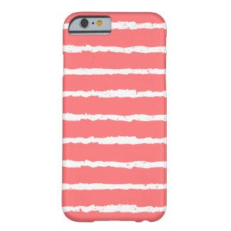 Unique Coral White Grunge Stripes iPhone 6 case