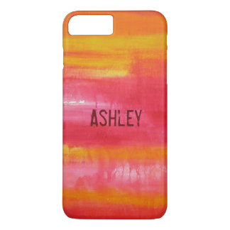 Unique Costum Red Pink Yellow Abstract Art iPhone 7 Plus Case