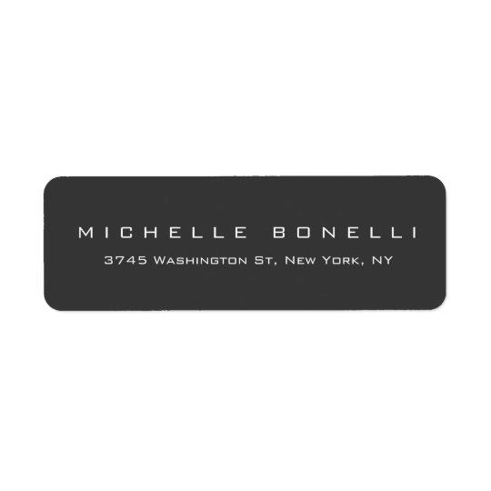 Unique Creative Grey Personal Return Address Label