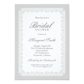 Unique Creative Grey Vintage Bridal Shower Card