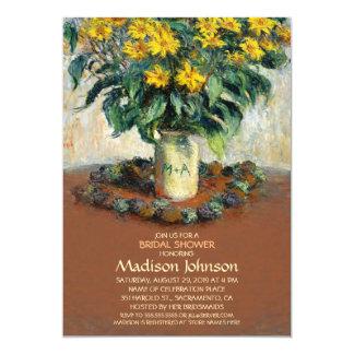 Unique Creative Mason Jar Sunflower Bridal Shower Card