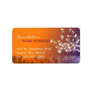 Unique Dandelion Business Marketing Address Labels