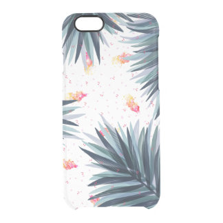 Unique Delicate Tropical Leaves Pattern Clear iPhone 6/6S Case
