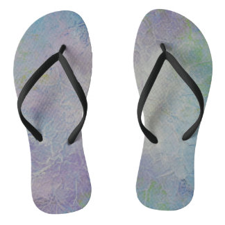 Unique Design Lilac and Purple Flip Flops