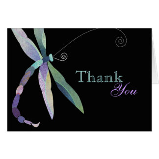 Unique Dragonfly Business Thank You Card