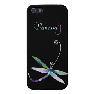 Unique Dragonfly + Monogram Cover For iPhone 5/5S