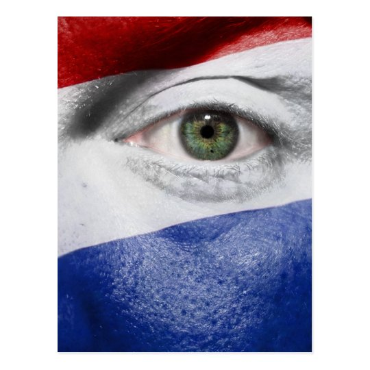 Unique Dutch Flag design Postcard