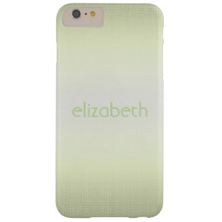 Unique Elegant Simple Personalized Green Minimal Barely There iPhone 6 Plus Case
