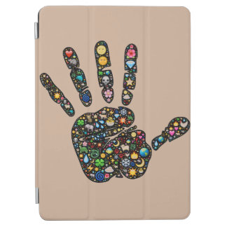 Unique Emoji-art handprint iPad air cover