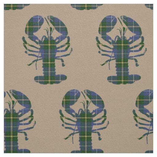 Unique fabric  Lobster taupe tartan Nova Scotia
