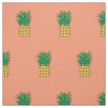 Unique fabric pink pineapple