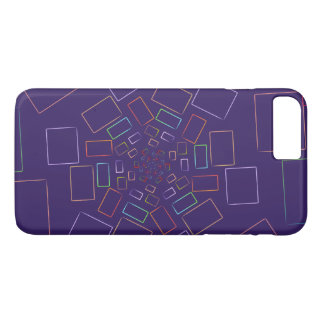 Unique Falling squares purple I phone case