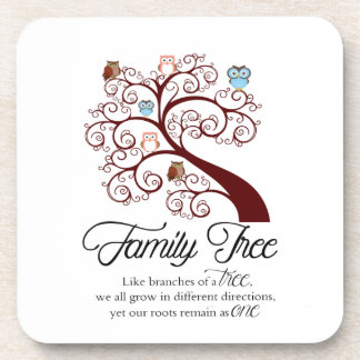 Unique Family Tree Design Coasters