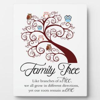 Unique Family Tree Design Display Plaque