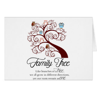 Unique Family Tree Design Greeting Card