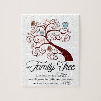 Unique Family Tree Design Puzzles