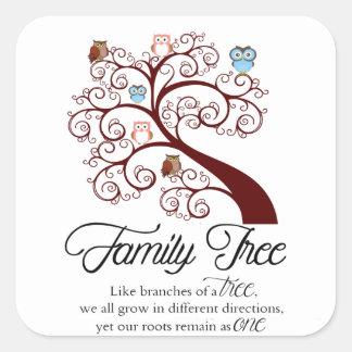 Unique Family Tree Design Square Sticker