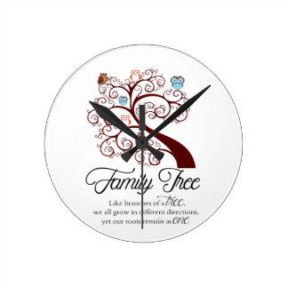 Unique Family Tree Design Wallclock