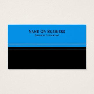 Unique Fashionable Cerulean Blue, Black ColorBlock Business Card