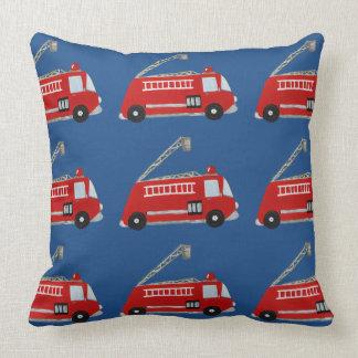 Unique fire truck throw cushion