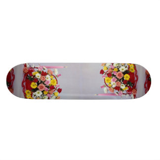 Unique Floral still life 20.6 Cm Skateboard Deck