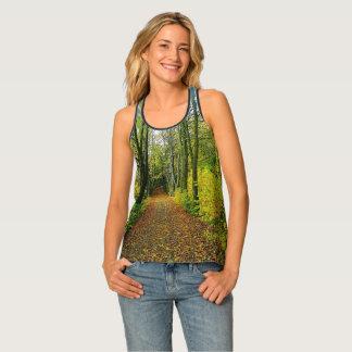 Unique Forest Print Tank Top
