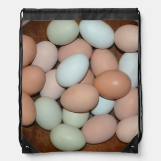 Unique Free Range Chicken Eggs Drawstring Bag