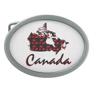 Unique fun Canadian red Maple Canada  belt buckle