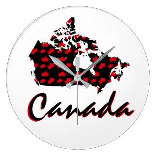 Unique fun Canadian red Maple Canada clock