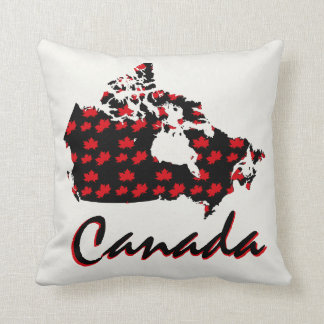 Unique fun Canadian red Maple Canada pillow