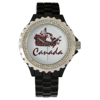 Unique fun Canadian red Maple Canada watch